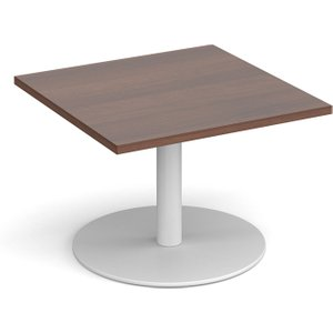 Tolson Square Coffee Table, 70wx70dx49h (cm), Walnut, Free Standard Delivery MCS700 WH W