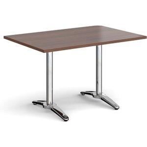 Totti Rectangular Dining Table, 120wx80d (cm), Walnut, Free Standard Delivery RDR1200 W, Walnut