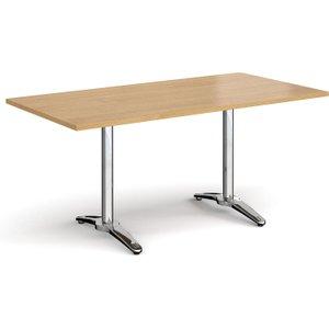 Totti Rectangular Dining Table, 160wx80d (cm), Oak, Free Standard Delivery RDR1600 O, Oak
