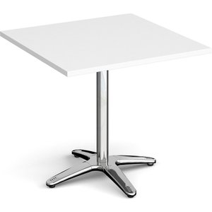 Totti Square Dining Table, 80wx80dx73h (cm), White, Free Next Day Delivery RDS800 WH, White