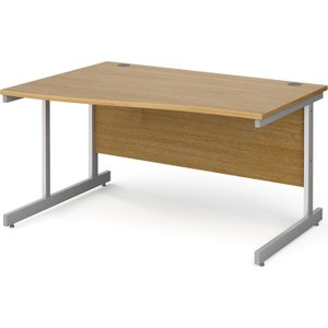Tully I Left Hand Wave Desk, 140wx99/80dx73h (cm), Oak, Free Delivered & Fully Installed D Ns14wlox