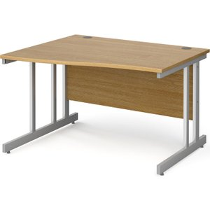 Tully Ii Left Hand Wave Desk, 120wx99/80dx73h (cm), Oak, Free Standard Delivery Nd12wlox