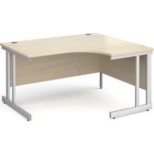Tully Ii Right Hand Ergonomic Desk, 140wx120/80dx73h (cm), Maple, Free Delivered & Fully I ND14ERMX, Maple