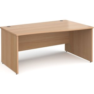 Tully Panel End Right Hand Wave Desk, 160wx99/80dx73h (cm), Beech, Free Standard Delivery NP16WRBX