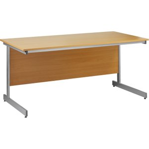 Value Line Budget C-leg Rectangular Desk, 120wx80dx73h (cm), Woodland Beech, Free Standard Delivery FCL12BHX