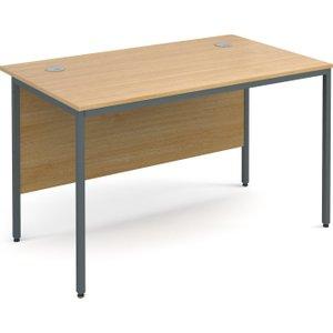Value Line Classic H-leg Basic Rectangular Desk, 123wx75dx73h (cm), Oak, Free Next Day Del H4ox