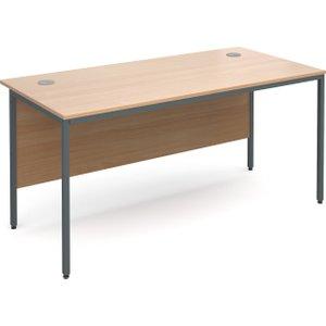 Value Line Classic H-leg Basic Rectangular Desk, 153wx75dx73h (cm), Beech, Free Next Day Delivery H6BX