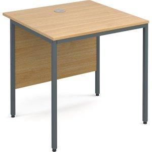Value Line Classic H-leg Basic Rectangular Desk, 75wx75dx73h (cm), Oak, Free Standard Deli H3OX