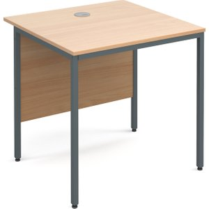 Value Line Classic H-leg Basic Rectangular Desk, 75wx75dx73h (cm), Beech, Free Delivered & Fully In H3BX