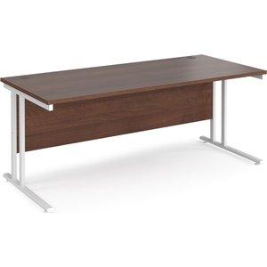 Value Line Deluxe C-leg Rectangular Desk (white Legs), 180wx80dx73h (cm), Walnut Mc18whw, Walnut