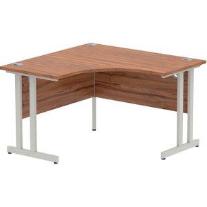 Vitali C-leg Corner Desk (silver Legs), Walnut Iccdc12wnt Nd, Walnut