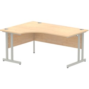Vitali C-leg Left Hand Ergonomic Desk (silver Legs), 160wx120/80dx73h (cm), Maple Icdlc16mpe Nd, Maple