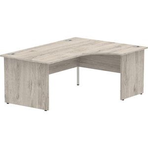 Vitali Panel End Right Hand Ergonomic Desk , 160wx120/80dx73h (cm), Grey Oak Icdrp16gry Eco, Grey Oak
