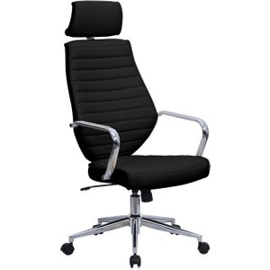 Wyatt Black High Back Executive Chair, Black, Free Delivered & Fully Installed Delivery BCP/G448 BLACK ASSEMBLEDX, Black
