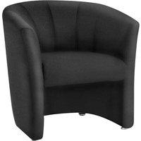 Zola Fabric Single Tub Chair (black) Br000099 Eco