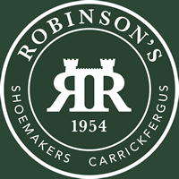Image Label: Logo | Seller Name: Robinson's Shoes | Location: United Kingdom | Northern Ireland | Belfast | Summary: Established in 1954, Robinson's Shoemakers is an internationally recognised retailer selling some of the most prestigious footwear brands including Barker, Loake, Alfred Sargent and their own range of handcrafted shoes.